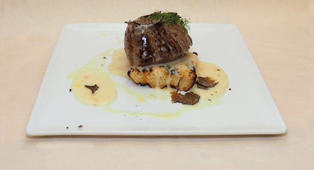 Tagliata di manzo con fonduta di pecorino e tartufo di San Miniato - Fonte: Quandoo